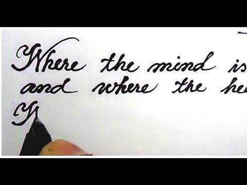 How To Write Neat Handwriting English Part1 Cursive Calligraphy