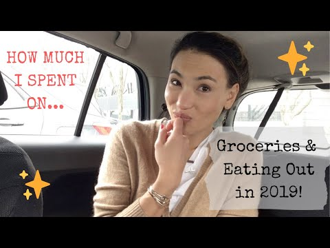How Much I Spent On Groceries And Eating Out In 2019!