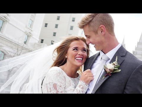 Salt Lake Temple Wedding | Eric + Tatiana