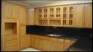 Kerala Style Wooden Kitchen Cabinets