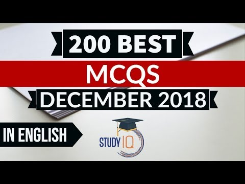 200 Best Current Affairs December 2018 In ENGLISH Set 1  - IBPS PO/SSC CGL/UPSC/IAS/RBI Grade B 2019