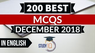 Download Video 200 Best current affairs December 2018 in ENGLISH Set 1  - IBPS PO/SSC CGL/UPSC/IAS/RBI Grade B 2019 MP3 3GP MP4