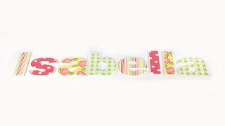 Paint Thin Stripes And Flowers On Letters
