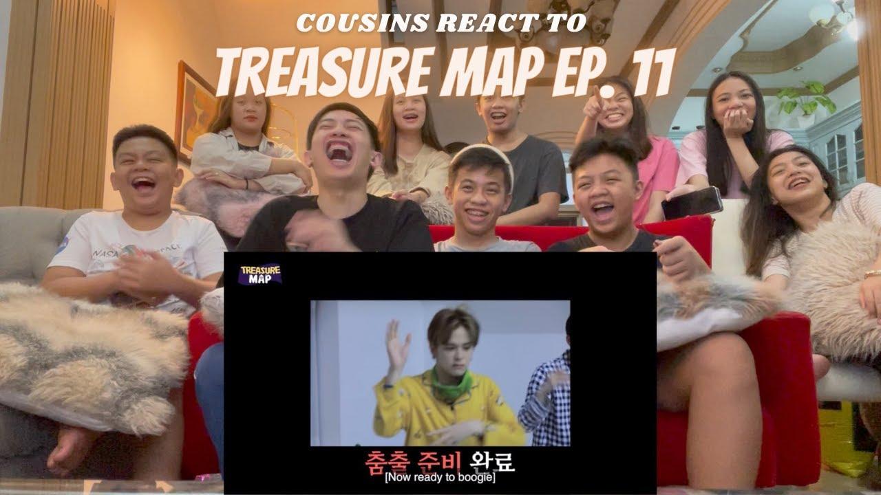 Download COUSINS REACT TO [TREASURE MAP] EP.11 ♨️애교지옥♨️ 화끈 파자마 파티