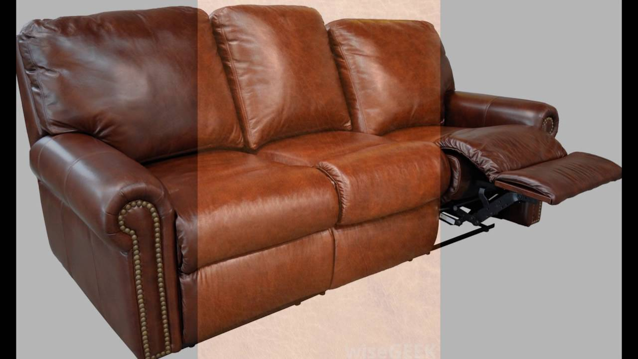 Full grain leather recliner
