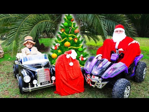 Santa Clause lost the Christmas gifts, detective ride on power wheels