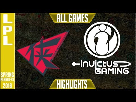 RW vs IG Highlights ALL GAMES | LPL Playoffs 3rd Place Spring 2018 Rogue Warriors vs Invictus Gaming