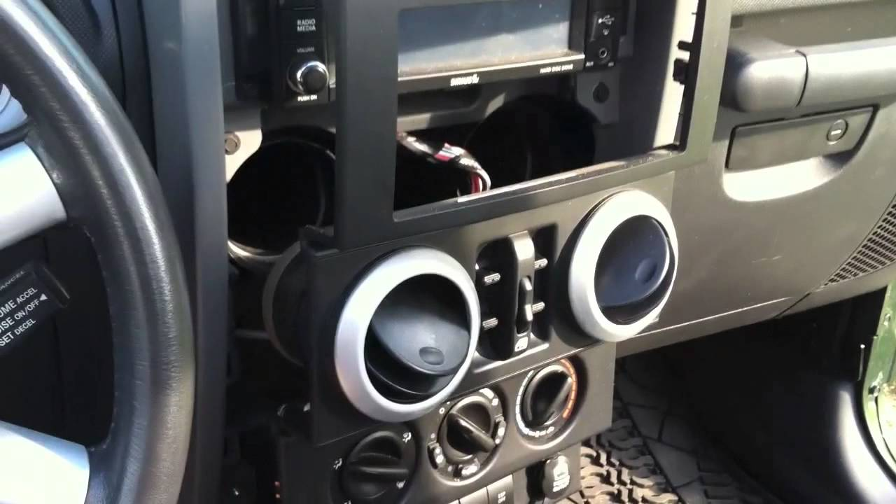 how to install cb radio in a jeep wrangler or other truck car youtube [ 1280 x 720 Pixel ]