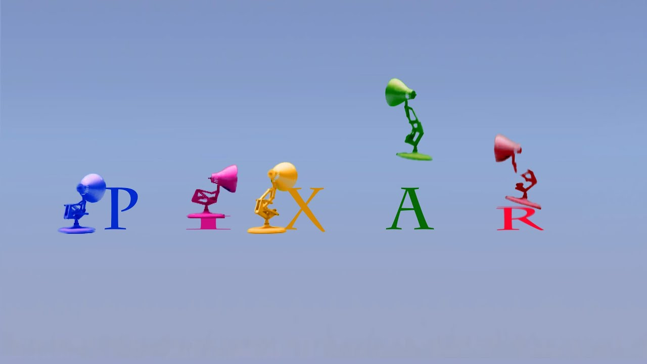 133 Five Colors Pixar Lamps Luxo Jr Logo Spoof Colors