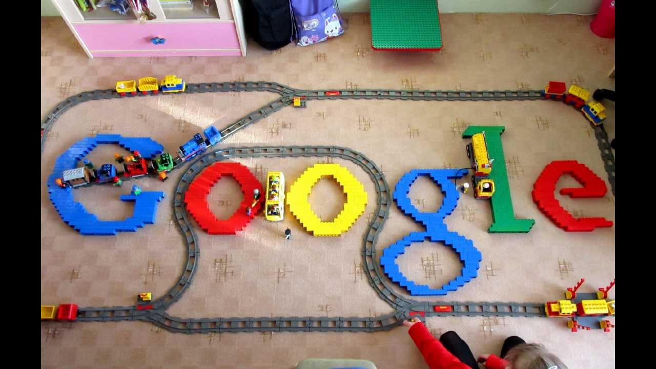 Lego GOOGLE Logo with four trains   YouTube Lego GOOGLE Logo with four trains