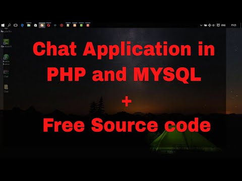 Chat Application With File Sharing Function Using  PHP And AJAX With Full Source Code Included