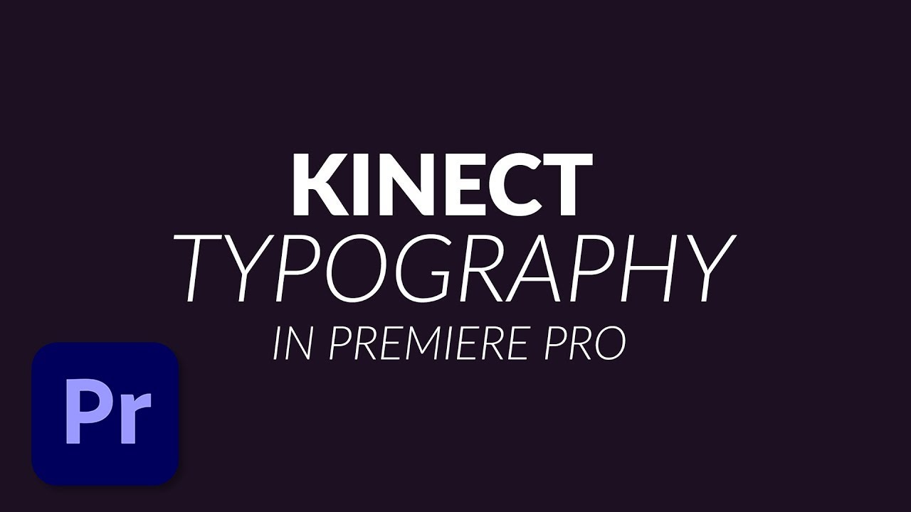 How To Create A Kinetic Typography Animation In Premiere Pro Cc 2017  Tutorial