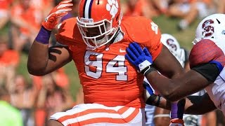 Carlos Watkins (Clemson DT) vs South Carolina 2015