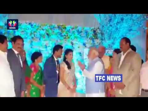 PM Modi Surprise Entry at TDP MP RamMohan Naidu Wedding Reception | TFC News