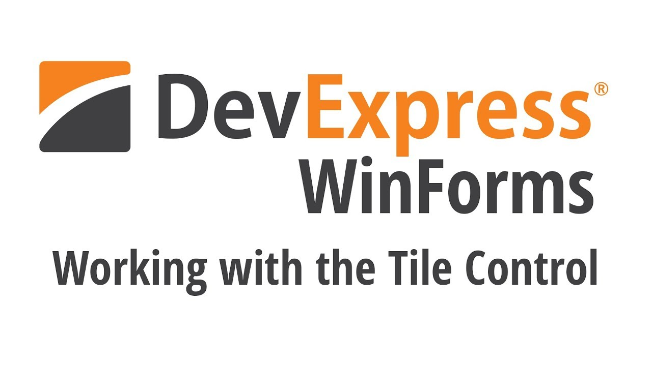 Working with the WinForms Tile Control