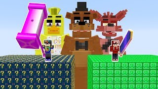 LUCKY BLOCK VS ANIMATRONICS - (BATALHA ÉPICA) MINECRAFT