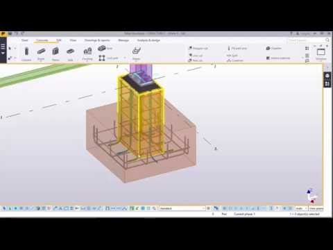 Anchor rod,rebar placement and grouting of steel column bases in TEKLA STRUCTURES 2016