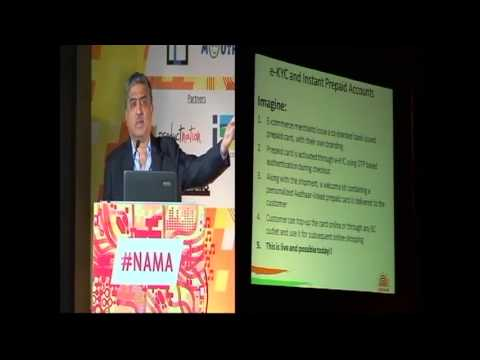 #NAMA -- Nandan Nilekani Launches Aadhaar E-KYC Based Instant Prepaid Cards