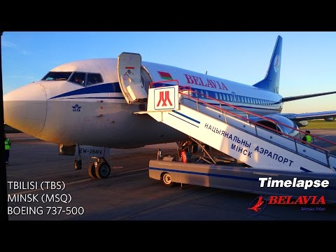 Sunrise Timelapse Flight: Tbilisi to Minsk (Belavia Boeing 737-500)