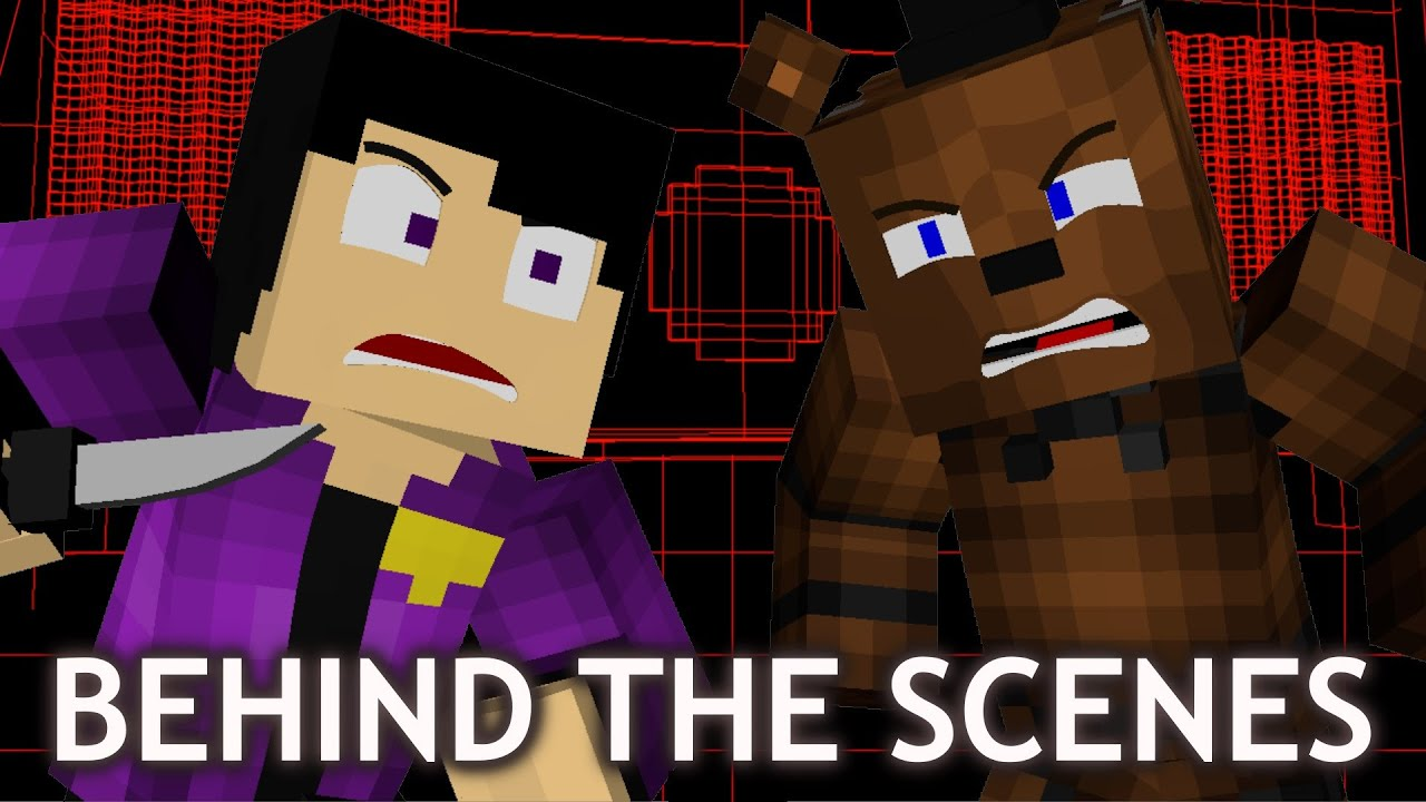 """LOOK AT ME NOW - REMASTERED Behind the Scenes! FNAF Minecraft Music Video (3A Display)"