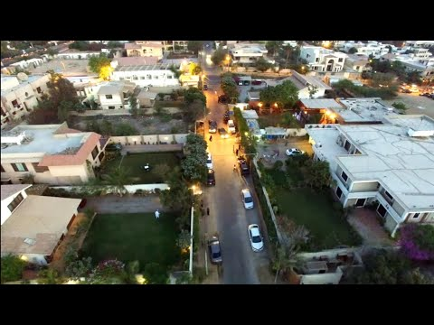 Flying drone over Pir Pagara's house defence Karachi