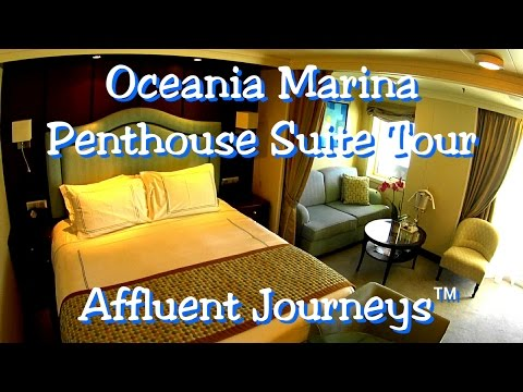 Oceania Marina Penthouse Suite Tour in 1080p