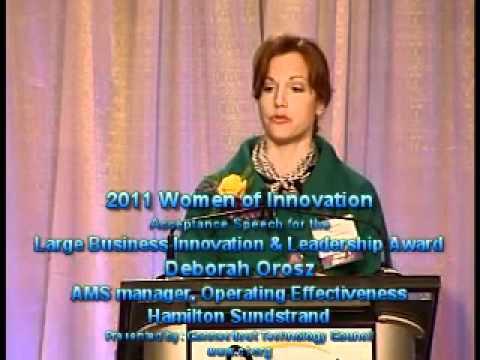 Deborah Orosz - 2011 Women of Innovation - Award Acceptance Speech