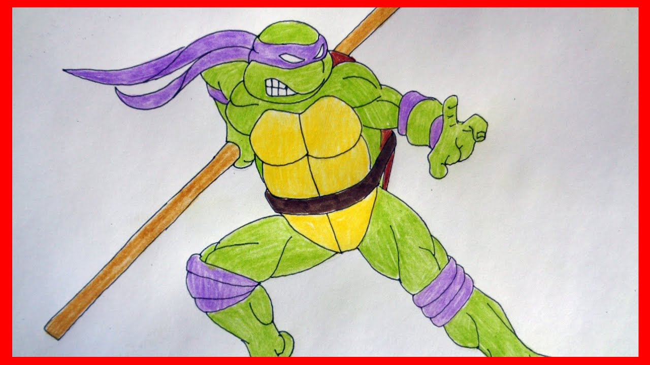How to draw ninja turtles Donatello, Как нарисовать ...