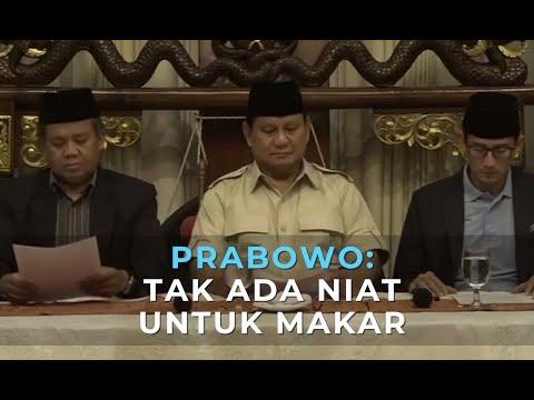 Prabowo: Tak Ada Niat Untuk Makar