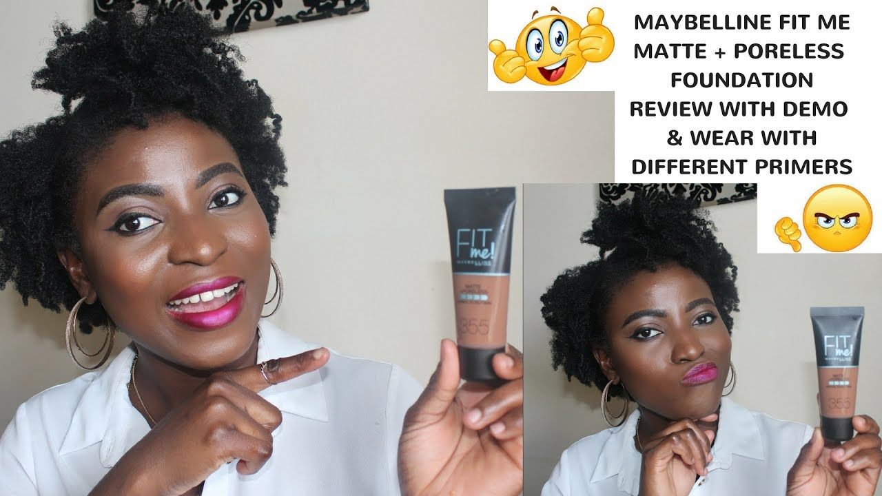 Maybelline Fit Me Matte Poreless Foundation Review With Demo 355 Airyrooms 30ml Pecan Kenny Olapade