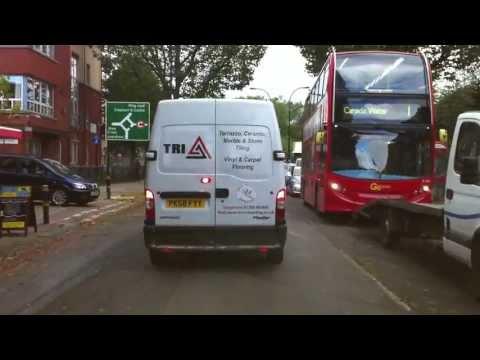 London Streets (224.) - Rainham - Beckton - Poplar - Tower Bridge - Elephant & Castle - Lambeth Rd