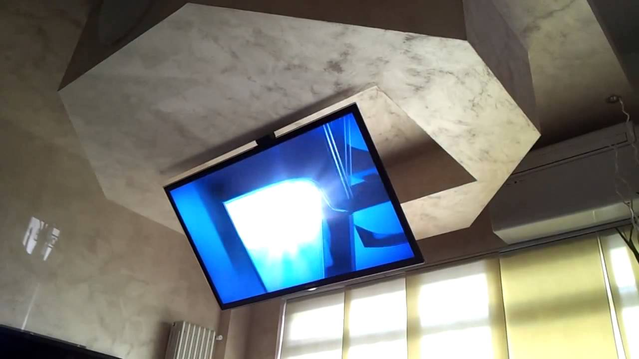 Tv Ceiling Lift Flip Drop Down Swivel Flip 900 Youtube