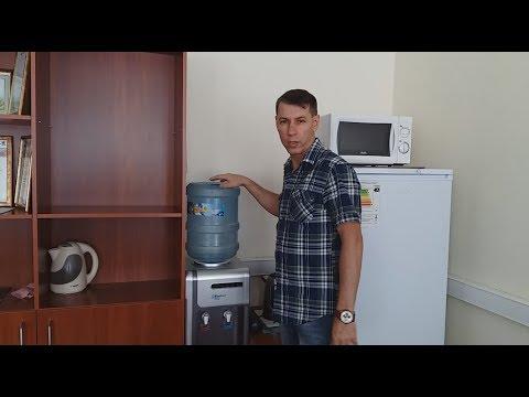 Как поменять бочку с водой в кулере