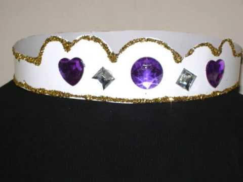 Como hacer una corona o tiara para su princesa , manualidadesconninos , YouTube
