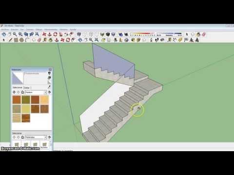 Como hacer una escalera r pidamente sketchup youtube for Como hacer escalones