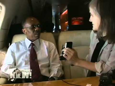 Democracy Now! Exclusive Interview with Jean-Bertrand Aristide on Plane Returning to Haiti. 3 of 3