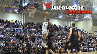 Jalen Lecque CRAZY DUNK SHOW! Shuts Down The Gym! NC State Point Guard Commit