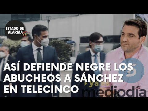 Así defiende Negre los abucheos a Sánchez en Telecinco