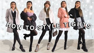 How to style tights for fall / winter | trendy and classy outfits cмотреть видео онлайн бесплатно в высоком качестве - HDVIDEO