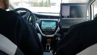 Michigan Tech students test autonomous car at Road America in Elkhart Lake, WIomous car