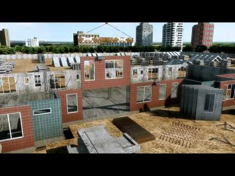 Architectural animation showing how a building is constructed from the ground up