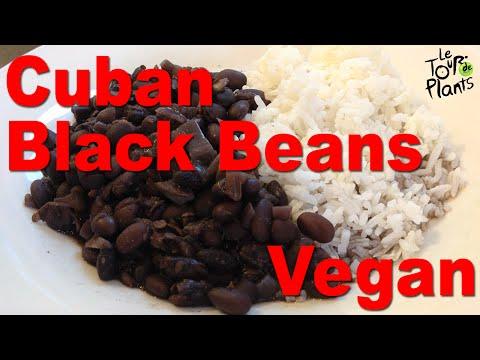 Authentic Cuban Black Beans Frijoles Negros in slow cooker (oil-free, vegan)