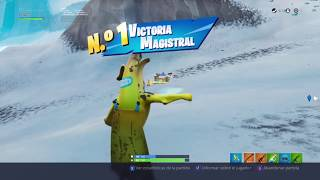 "FORTNITE Victory with BANANA SKIN - NO SWEAT EMOTE ""FLOSS 2.0 - BY LXFR504"""