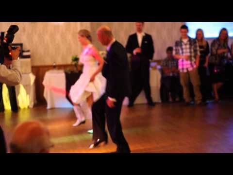 Father daughter surpise country line dance