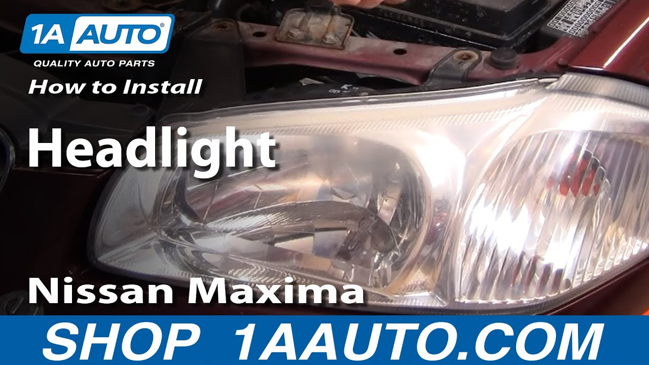 maxresdefault how to install replace headlight nissan maxima 00 01 1aauto com  at n-0.co