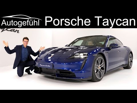 all-electric Porsche Taycan Turbo Premiere REVIEW Exterior Interior - Autogefühl