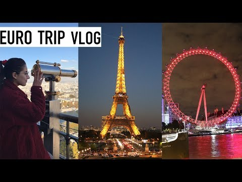 EUROPE TRAVEL VLOG 2018 | London, Paris & Amsterdam
