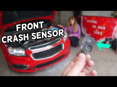 FRONT IMPACT CRASH AIRBAG SENSOR LOCATION REPLACEMENT CHEVROLET CRUZE CHEVY SONIC
