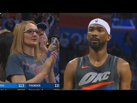 Thunder Crowd Give Corey Brewer Standing Ovation After He Gets 22 Points & 6 Steals!