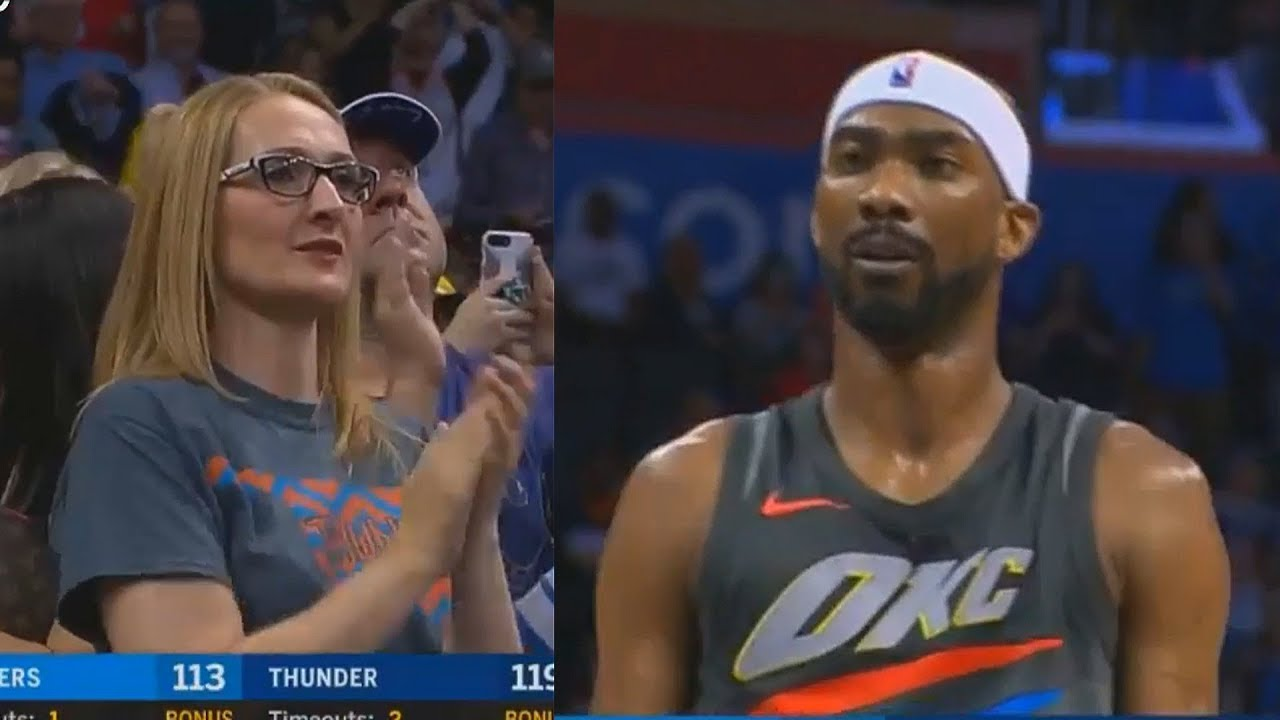 Thunder Crowd Give Corey Brewer Standing Ovation After He Gets  Steals
